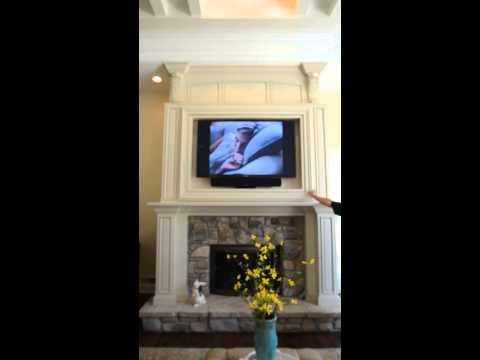 Custom Fireplace Surround-TV Swivel Mechanism