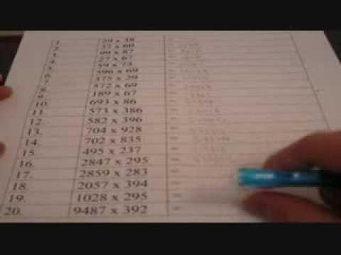Mental Math based Abacus Method