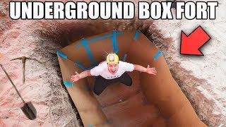 UNDERGROUND BOX FORT BUNKER!!📦
