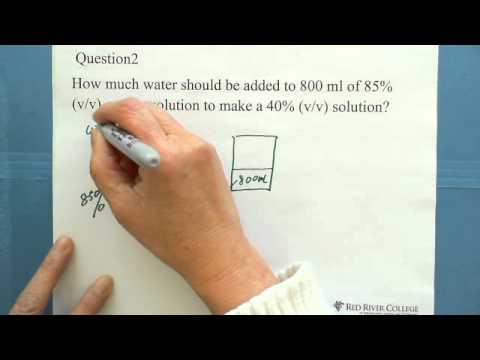 4. Concentration of a Solution: Volume Percent (% v.v) (2)
