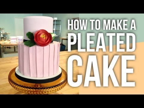 How to Make a Fondant Pleated Cake | Cake Tutorials