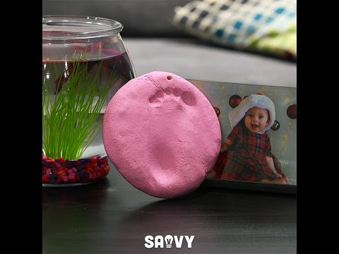 Salt Dough Baby Footprint Keepsake