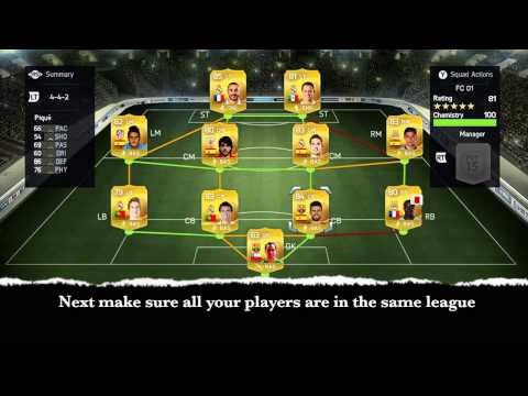 How to Build a Team in Fifa 15 with 100 Chemistry