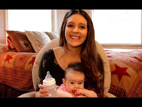 Minbie Baby Bottle | Babies 1st Attempt at Bottle