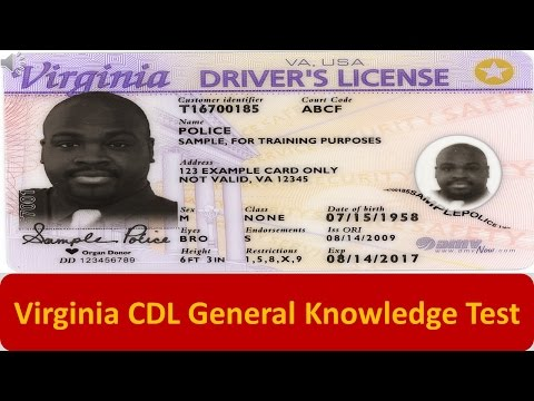 Virginia CDL General Knowledge Test