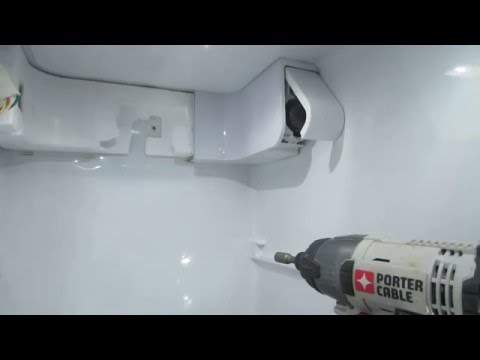 How to replace water housing in a refrigerator
