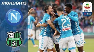 Napoli 2-0 Sassuolo | Goals From Ounas & Insigne Ensure Comfortable Win | Serie A