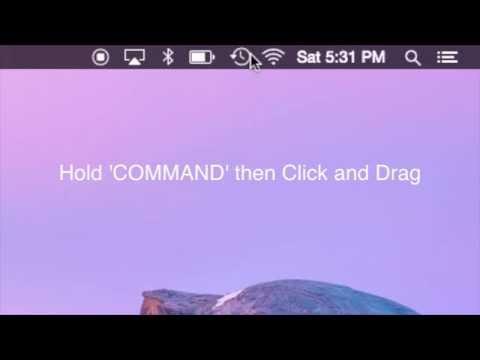 Yosemite Tip/Trick - Moving Mac Menu Bar Items