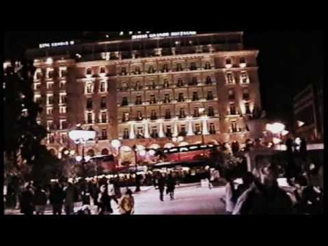 SYNTAGMA SQUARE BY NIGHT----METRO-    ATHENS -----        HELLAS---GREECE