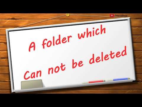 Creating Undeletable Folder named CON on windows 10