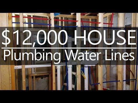 $12,000 CASH House - Plumbing Water Lines - #20