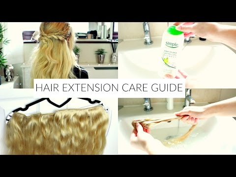 how to care for clip in hair extensions