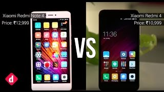 Xiaomi Redmi 4 Vs Xiaomi Redmi Note 4 | Digit.in