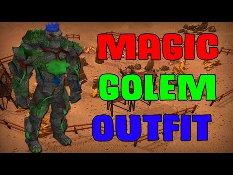 Magic Golem Outfit - Insane Mining Bonus Experience And Other Boosts