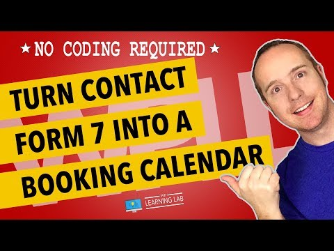 WordPress Booking Calendar Using Contact Form 7 & A Datepicker | Contact Form 7 Tutorials Part 7