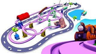 toy train videos for children - train for kids - train videos - chu chu train -  train cartoon