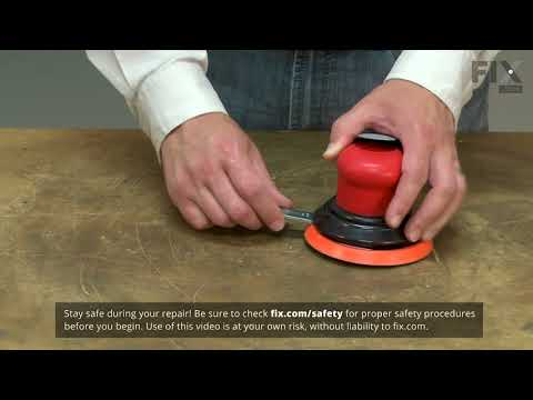 Dynabrade Sander Repair - How to Replace the Sanding Pad