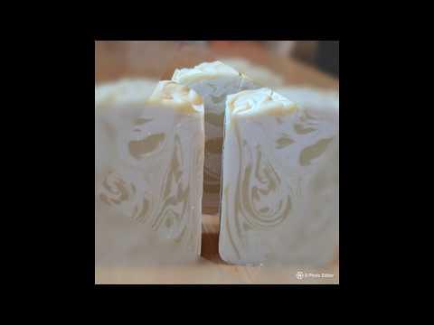 Making Honeysuckle Soap.