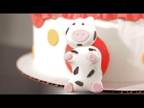 How to Make a Fondant Cow   Cake Fondant