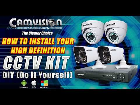 Camvision CCTV AHD Kit Package (DIY): For Android Setup