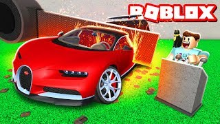 DESTROYING MY 1,000,000 ROBUX CAR IN ROBLOX