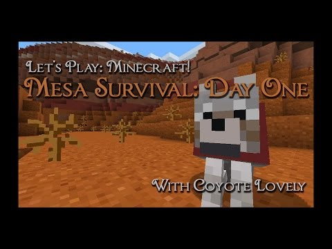 Let's Play: Minecraft! Mesa Survival, Day One