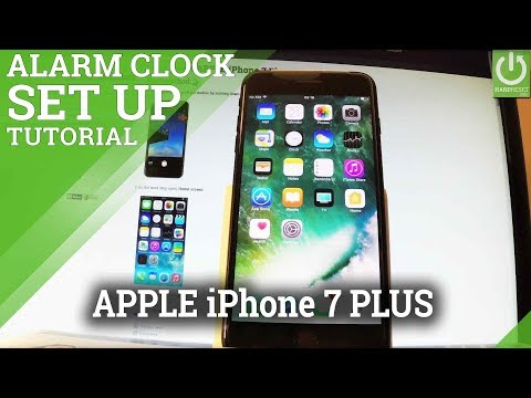 How to Add and Alarm in APPLE iPhone 7 Plus - Set Up Alarm Clock