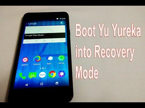 How to Boot Yu Yureka into Recovery Mode