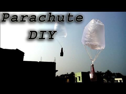 Homemade parachute DIY:how to  make parachute