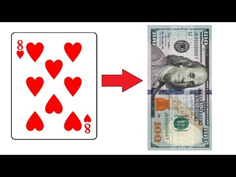IMPOSSIBLE | MONEY CHANGE INTO CARD MAGIC TUTORIAL