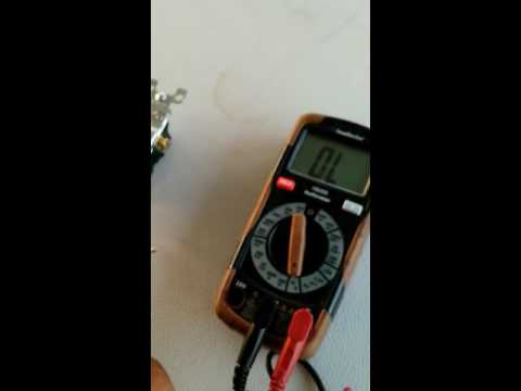 Testing a light switch with a multimeter