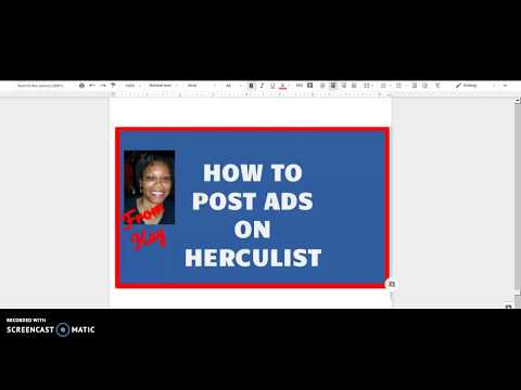 Tutorial- How to post Ads On Herculist - Step -by- step