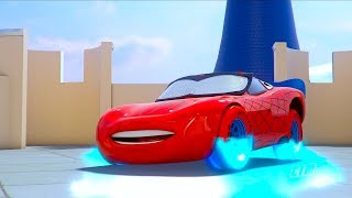 ICE Cars 3 Frozen WHEELS Lightning Spider-Man McQueen visits Princess Elsa Castle SHORT | EPISODE 19