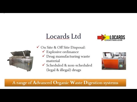 Disposal of hazardous organic waste