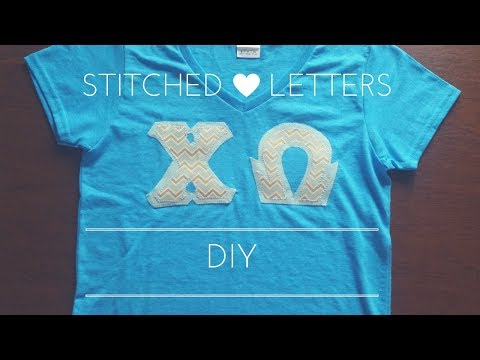 DIY Stitched Letter Shirts -- Greek Life Tutorial