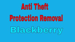 Blackberry passport sqw100-1/2/3 10 3 1 latest anti theft