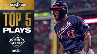 Howie Kendrick, Juan Soto and Anthony Rendon came up BIG! | Top 5 World Series Moments