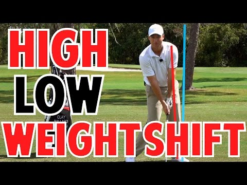 Golf Weight Shift to Hit High and Low Shots
