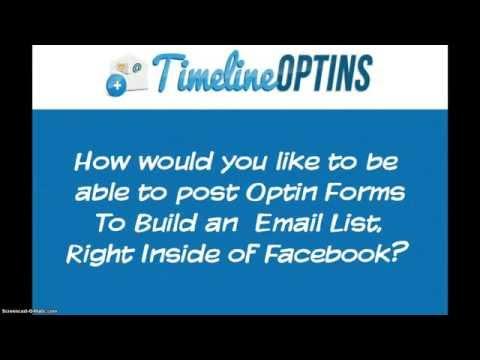 Timeline Optins - Build an email list inside Facebook