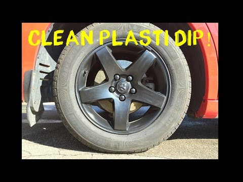 BEST Way to Clean Plasti Dipped Rims! - EASY & CHEAP $5