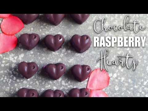 Valentines Raspberry Chocolate Hearts Truffle Recipe