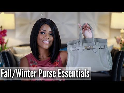 💖 Glam Style 💖 CLEANING OUT MY MESSY PURSE | PURSE ESSENTIALS | + BLOOPERS
