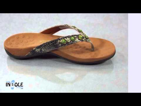 Vionic Orthaheel Snake Floriana Natural Orthotic Sandals @TheInsoleStore.com