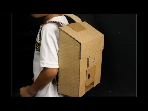 How to make Backpack (Knapsack) with Pencil Sharpener from Cardboard