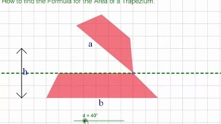How To Find The Formula For The Area Of A Trapezoid