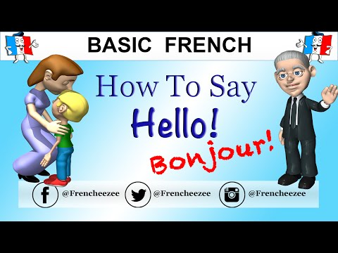 GOOD MORNING & HELLO IN FRENCH