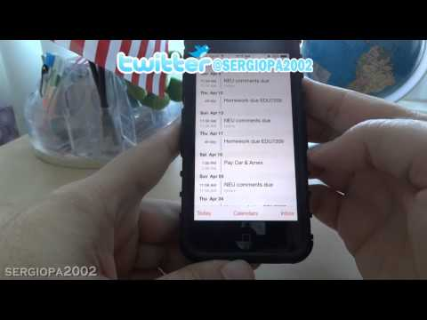 How to show list of scheduled events or appointments in your iPhone using IOS7