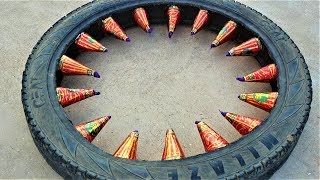 Tyre Me Anaar- Chain Reaction | Crazy Diwali Experiment |