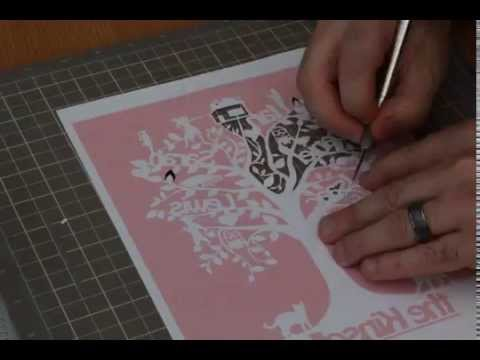 Family Tree Time-lapse Paper Cut
