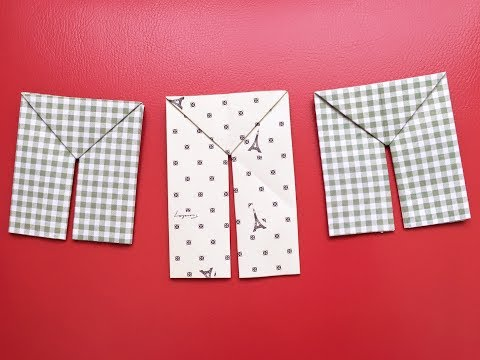 How to make a paper pants - Origami pants
